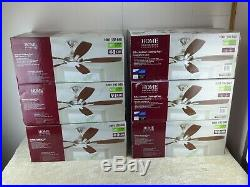 Home Decorators Collection Petersford 52 Br. Nickel Ceiling Fan with Light kit