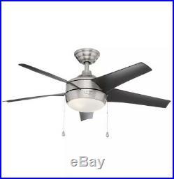Home Decorators Collection Windward 44 LED Brushed Nickel Ceiling Fan/Light Kit