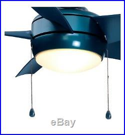 Home Decorators Collection Windward 44 in. LED Blue Ceiling Fan with Light Kit