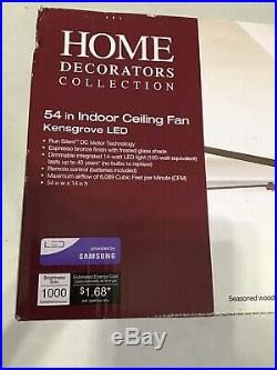 Home Decorators Collection YG493A-EB 54 inch Ceiling Fan with Light Kit and