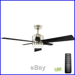 Home Decorators Hexton 52 in. LED Indoor Brushed Nickel Ceiling Fan withLight Kit