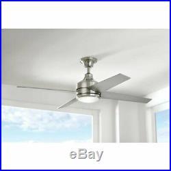 Home Decorators Mercer 52 LED Indoor Brushed Nickel Ceiling Fan with Light Kit