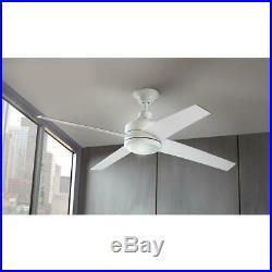 Home Decorators Mercer 52 in. Integrated LED White Ceiling Fan Light Kit 54727
