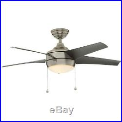 Home Decorators Windward 44 in. LED Brushed Nickel Ceiling Fan with Light Kit