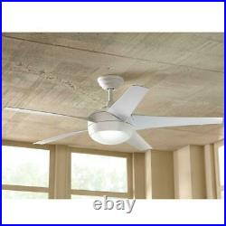 Home Decorators Windward 44 in. LED Indoor Matte White Ceiling Fan with Light Kit