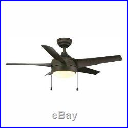 Home Decorators Windward 44 in. LED Oil Rubbed Bronze Ceiling Fan withLight Kit