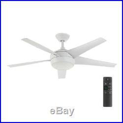 Home Decorators Windward IV 52 LED Indoor White Ceiling Fan, Light Kit, Remote