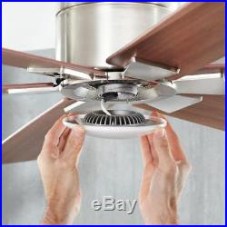 Home Renwick 54 Brushed Nickel Ceiling Fan withLight Kit & Remote 14435