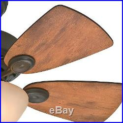 Hunter 34 New Bronze Ceiling Fan with Cabin Home/Walnut Blades & Light Kit