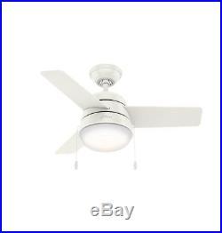 Hunter 36 3-Blade Ceiling Fan in Fresh White with LED Light Kit