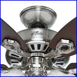 Hunter 42 Brushed Nickel Ceiling Fan Light Kit with Swirled Marble Glass