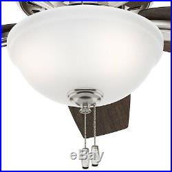Hunter 42 Brushed Nickel Ceiling Fan with Bowl Light kit