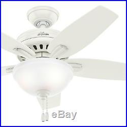 Hunter 42 Fresh White Ceiling Fan with CFL Bowl Light Kit, 5 Blades