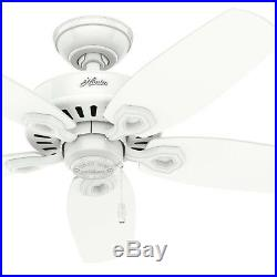 Hunter 42 in. Ceiling Fan in Snow White with Bowl Light Kit, 5 Blades