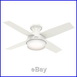 Hunter 44 in. Contemporary Low Profile Ceiling Fan with LED Light Kit and Remote