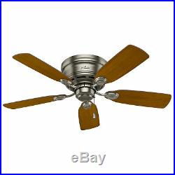 Hunter 51046 Low Profile Plus 42 Inch 5 Blade Quiet Ceiling Fan with Mounting Kit