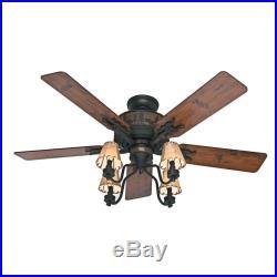 Hunter Brittany Bronze Rustic Cabin Ceiling Fan Shade Light Kit