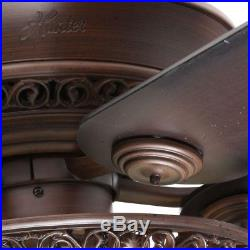 Hunter 52 Elegant Ceiling Fan Pull Chain Light Kit Old World Tuscan Bowl Indoor