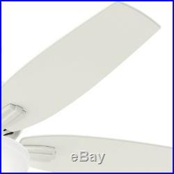 Hunter 52 Fresh White Ceiling Fan with Bowl Light Kit, 5-Blade