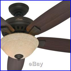 hunter 52 new bronze ceiling fan with light kit and 5 dark wood blades bronze ceiling fan
