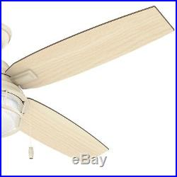 Hunter 52 Outdoor Ceiling Fan in Autumn Crème with LED Light Kit
