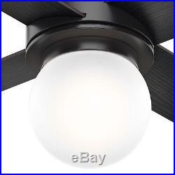 Hunter 52 in. Matte Black Ceiling Fan with LED Globe Light Kit
