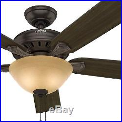 Hunter 52 in Traditional Ceiling Fan in Premier Bronze with Bowl Light Kit
