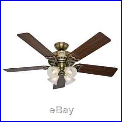 Hunter 53063 52 Indoor Ceiling Fan 5 Reversible Blades and Light Kit Included