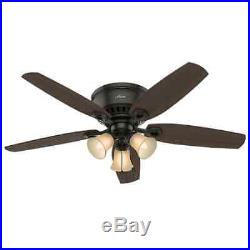Hunter 53327 52 Indoor Ceiling Fan 5 Reversible Blades and Light Kit Included