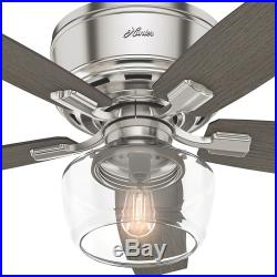 Hunter 53393 52 5 Blade LED Ceiling Fan withLight Kit and Remote Control Included