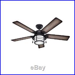 Hunter 54 Weathered Zinc Outdoor Ceiling Fan including Cased White Light Kit