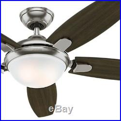 Hunter 54 inch Contemporary Ceiling Fan, Brushed Nickel LED Light kit & Remote