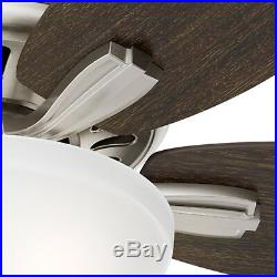 Hunter 56 Great Room Ceiling Fan in Brushed Nickel with Bowl Light Kit