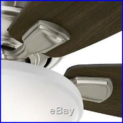 Hunter 56 Low Profile Ceiling Fan with LED Bowl Light Kit