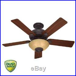 Hunter 59033 52 Ceiling Fan with Heater withBlades, Light Kit and Remote Control