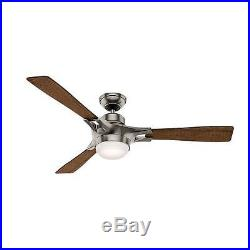 Hunter 59224 54 Ceiling Fan with Remote Control and LED Light Kit Included
