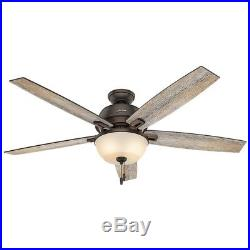 Hunter 60 in. Great Room Ceiling Fan in Onyx Bengal with LED Bowl Light Kit