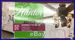 Hunter Adirondack 52-in Brittany Bronze 5-Blade Rustic Ceiling Fan WithLight kit