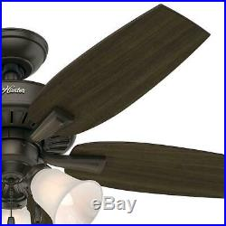 Hunter Atkinson 46 In. Indoor New Bronze Ceiling Fan With Light Kit