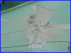 Hunter Augusta III 52 Ceiling Fan with 4 Light Kit White Vtg 2003 New in Box