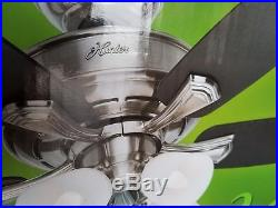 Hunter Belmor 52 in. Indoor Brushed Nickel Ceiling Fan with Light Kit