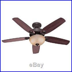 Hunter Builder Deluxe 52 in. Indoor New Bronze Ceiling Fan with Light Kit