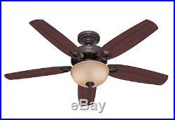 Hunter Builder Deluxe New Bronze 132cm / 52 Indoor Ceiling Fan with Light Kit