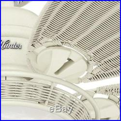 Hunter Caribbean Breeze 54 in. Indoor Textured White Ceiling Fan with Light Kit