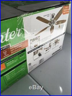 Hunter Ceiling Fan 54 Channing #53367 with Light Kit Brushed Nickel #14