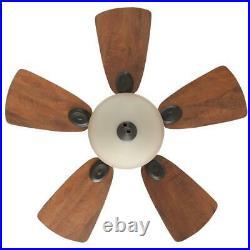 Hunter Ceiling Fan Glass Bowl Light Kit Indoor Bronze Five Blades 34 in. Depth