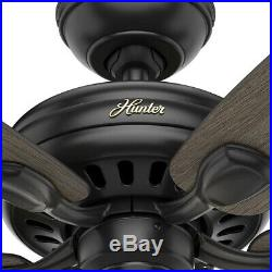 Hunter Ceiling Fan LED Highbury II 52 in. Indoor Matte Black With Light Kit