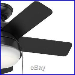 Hunter Ceiling Fan LED Light Kit 36 in. Matte Black Quiet Operation 3-Speeds
