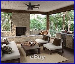 Hunter Ceiling Fan Light Kit 52 in. LED Indoor Outdoor Bronze Rustic Farmhouse