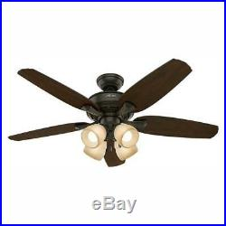 Hunter Channing 52 in. LED Indoor New Bronze Ceiling Fan with Light Kit 52079